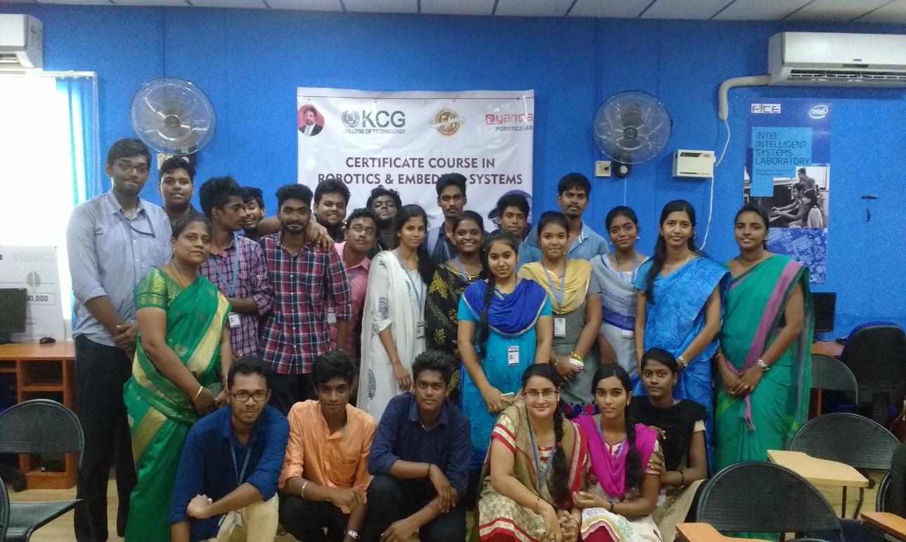 Workshop in Robotics – KCG College of Technology