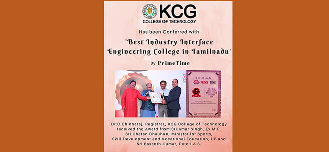 Best Industry Interface Engineering College In Tamilnadu By 'Prime Time'