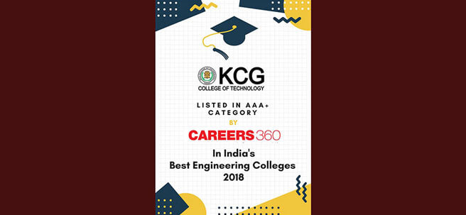 KCG College Of Technology Listed In AAA+ By Careers 360