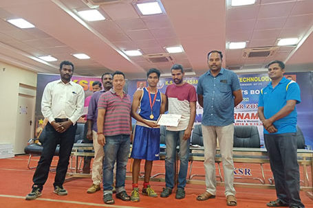 B.Sabareesh, IInd Year EIE, Won Gold Medal in Boxing Championship