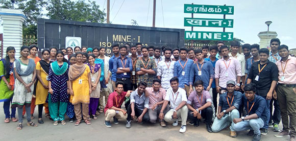 III Year Students Industry Visit To Neyveli Lignite Corporation
