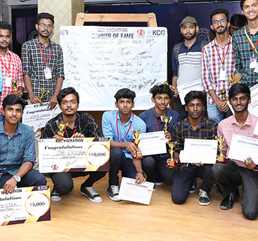 KCG Hackathon – 1st & 2nd Places By IT Students – 2019