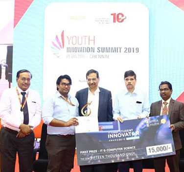 ICT Academy Youth Innovation Summit  - 1st Place – 2019